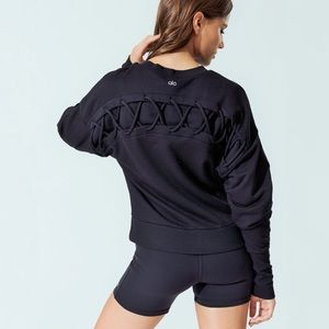 Alo Yoga 'Hook-Up' Long Sleeve Pullover Sweatshirt